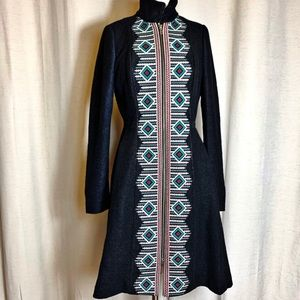 Plenty by Tracy Reese Embroidered Wool Coat